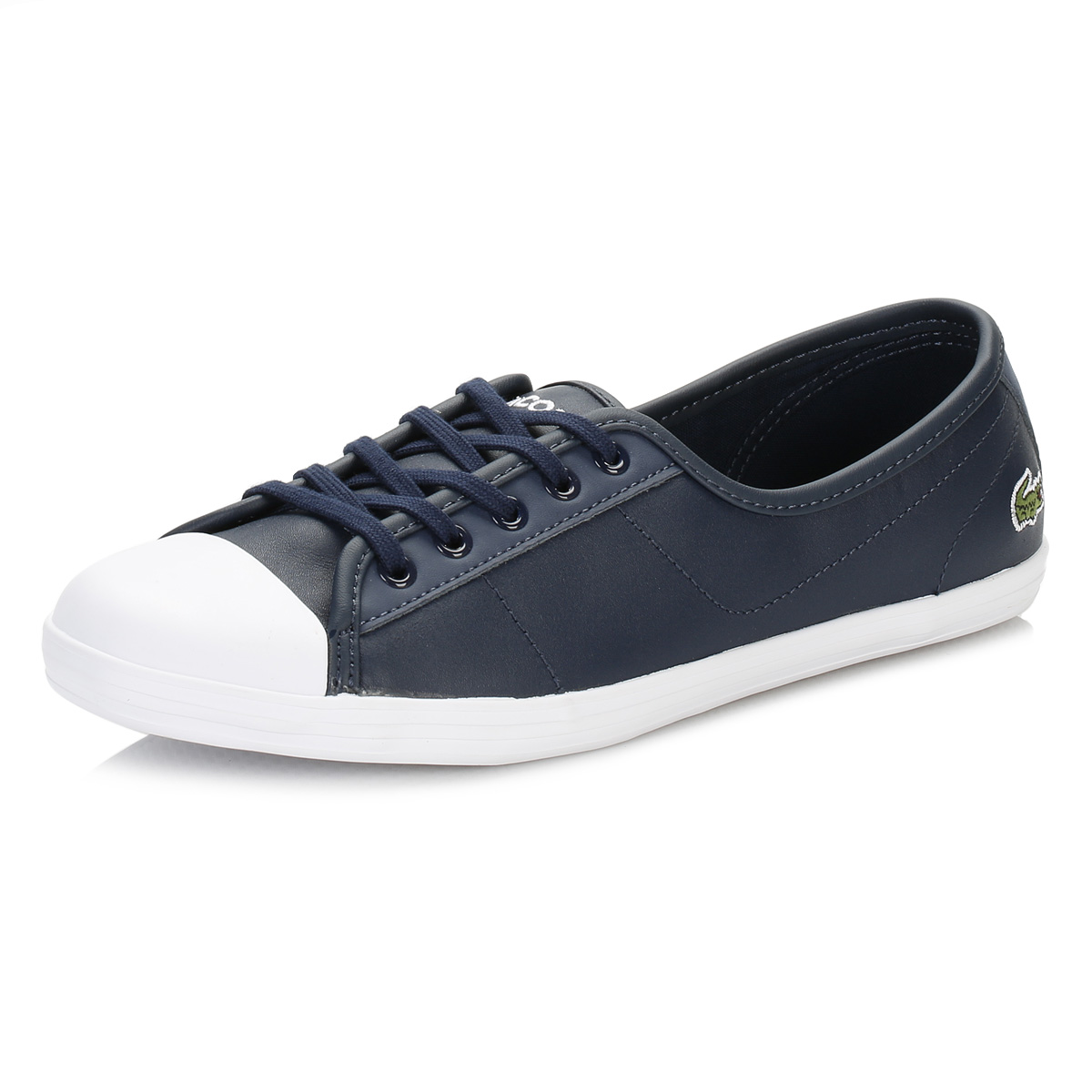 61081932698ed Details about Lacoste Womens Navy Blue Ziane BL 1 SPW Trainers Leather  Casual Shoes Flats