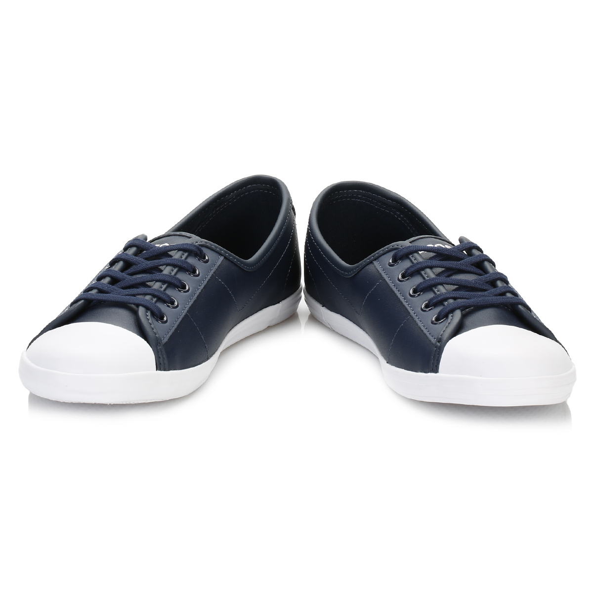 3825299bb95c9 Lacoste Womens Navy Blue Ziane BL 1 SPW Trainers Leather Casual Shoes Flats