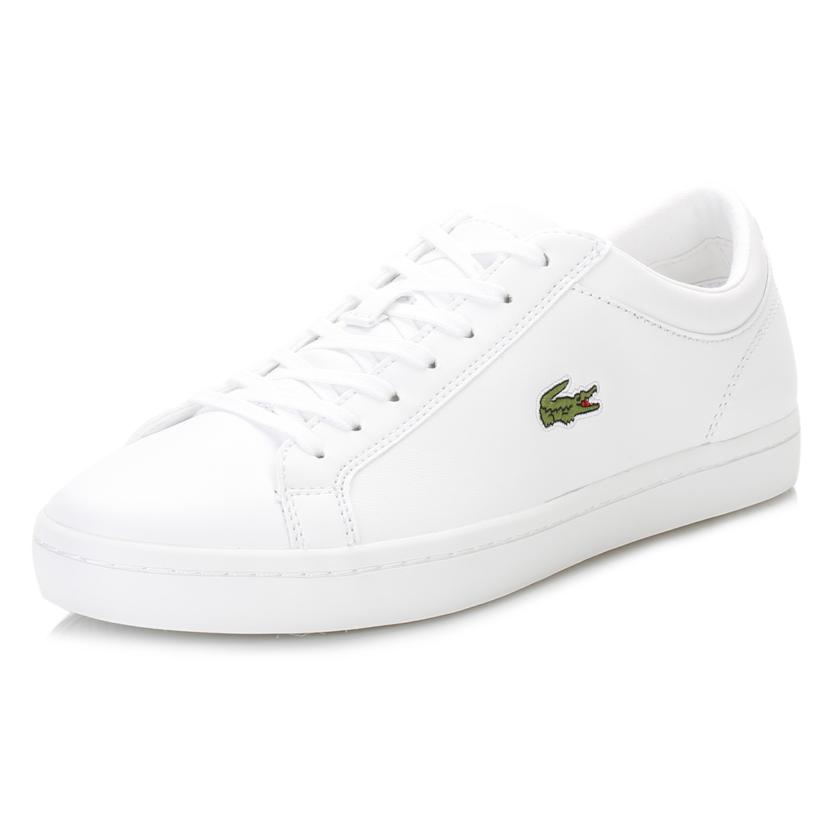 211e28c28e80f Details about Lacoste Womens White Trainers