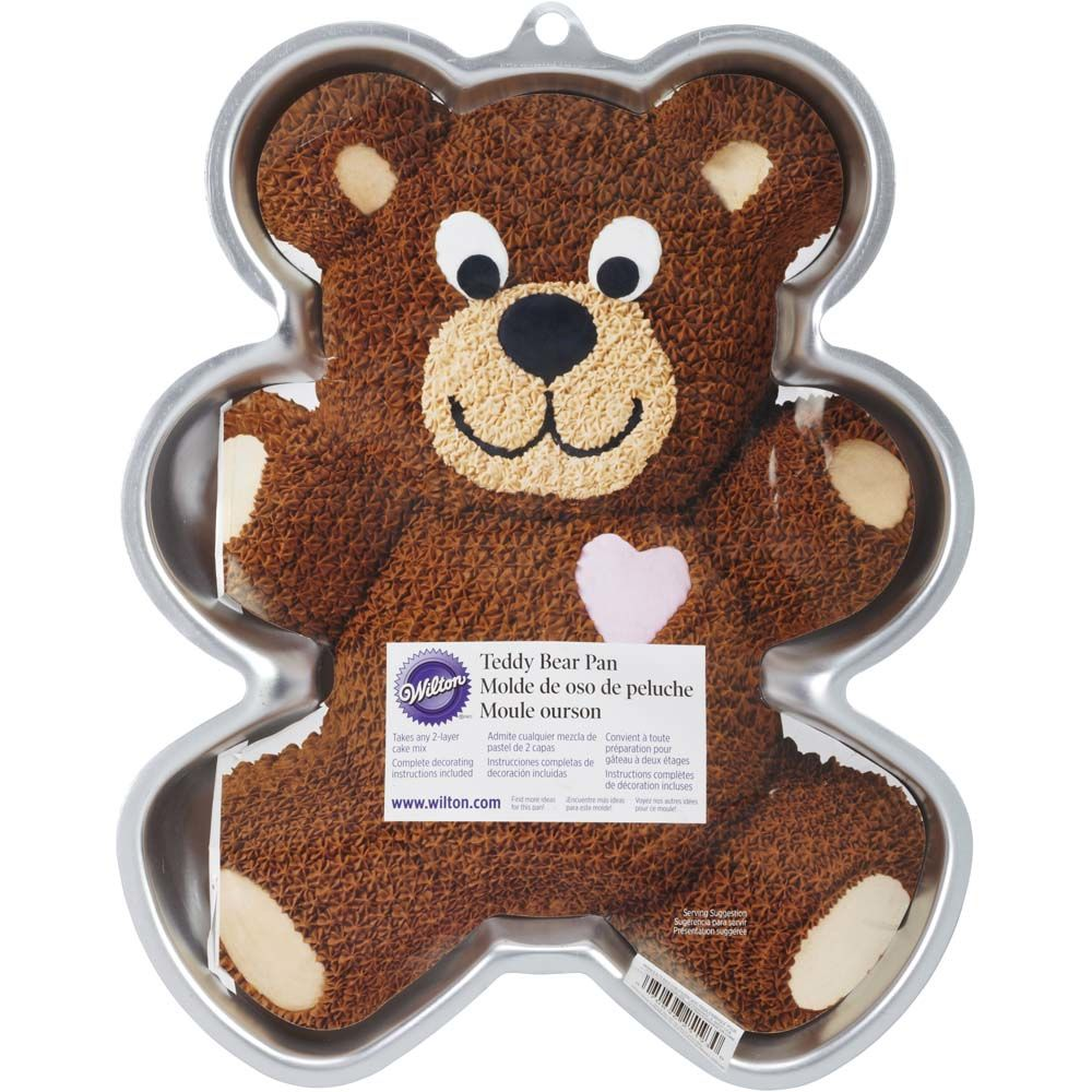 Wilton Teddy Bear Cake Tin Aluminium Non Stick 135x1225x2 In
