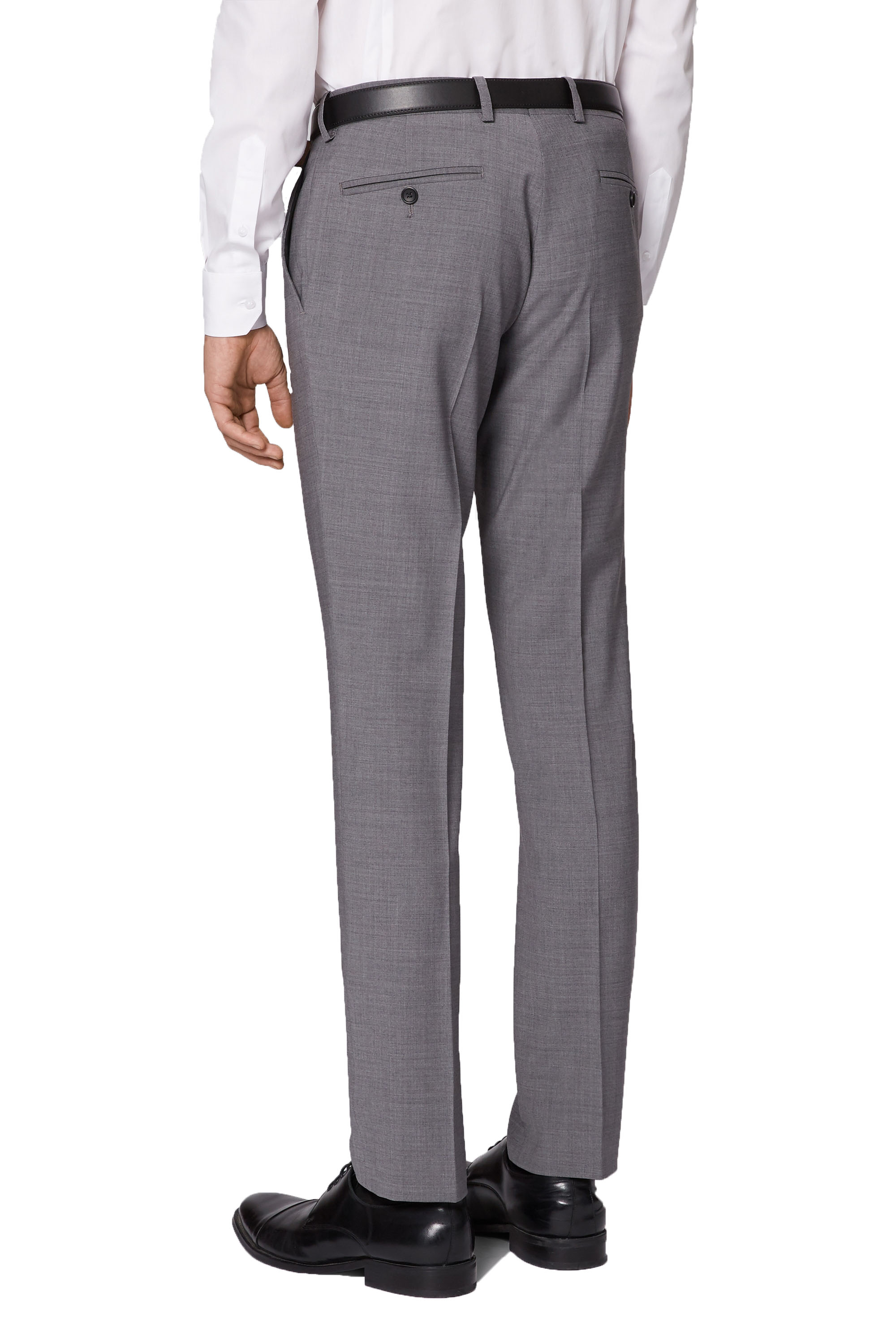 45410511a7a Details about Moss London Light Grey Suit Trousers Skinny Fit Flat Front  Performance Pants