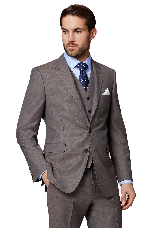 3e9b7c13d96 Ermenegildo Zegna Cloth Mens Neutral Brown Suit Jacket Regular Fit Pure Wool