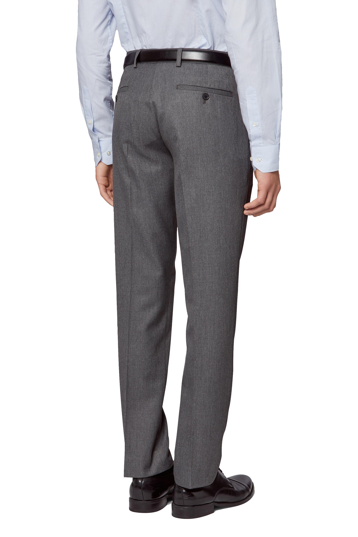 ea54a706e01 Details about Moss London Mens Grey Suit Trousers Slim Fit Flat Front Pants  Belt Loops