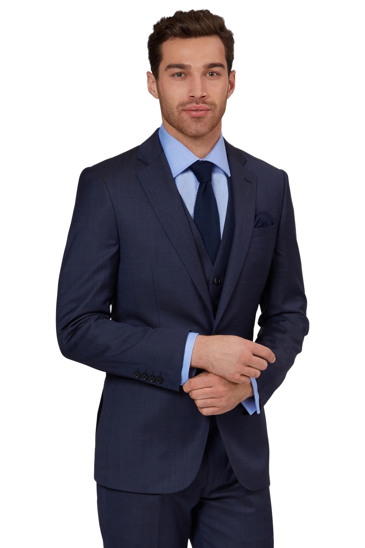 d7180a5c0de Lanificio F.lli Cerruti Dal 1881 Cloth Mens Tailored Fit Blue Wool Suit  Jacket