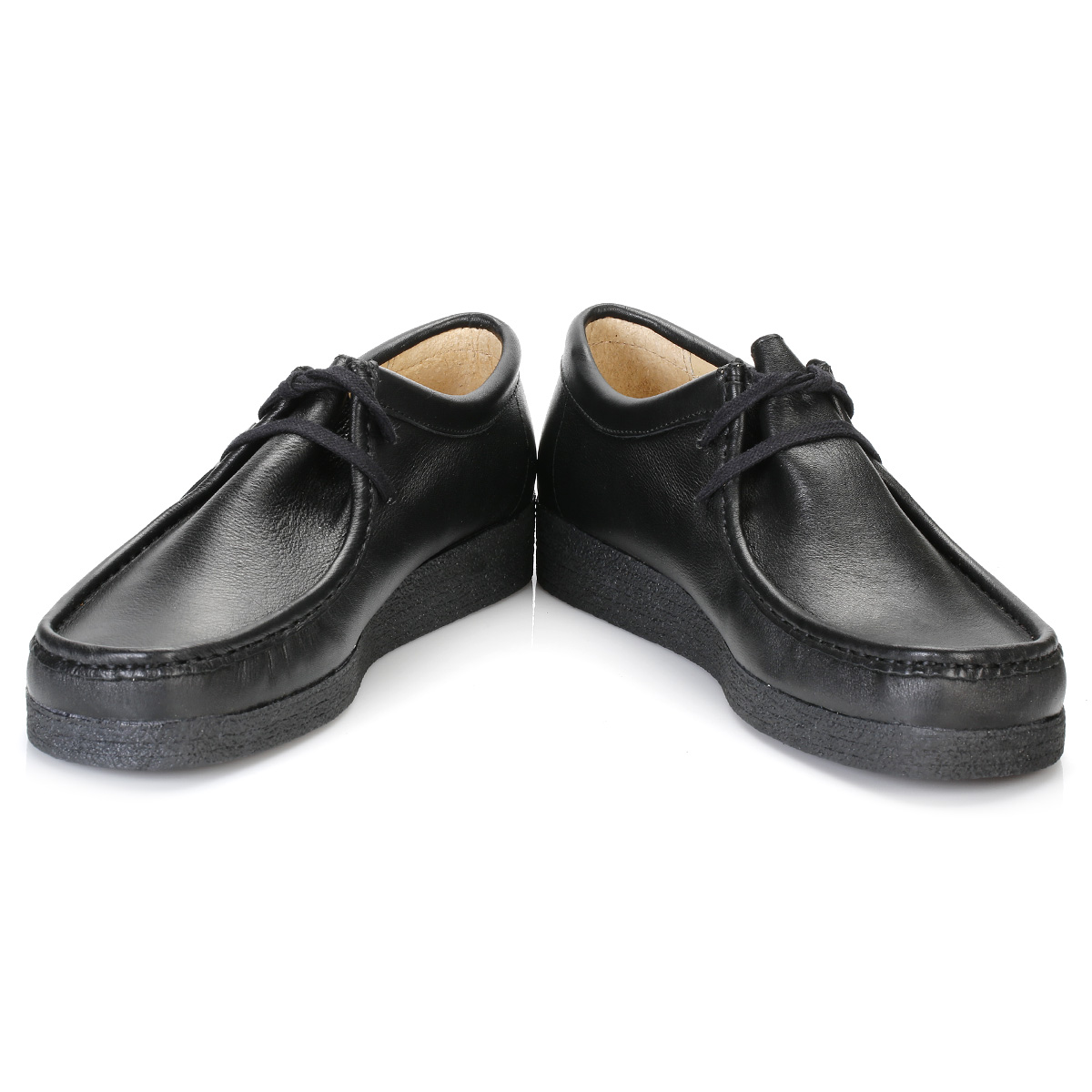 Tower Mens Womens Back Black Napa Leather Wallaby Back Womens to School Shoes 0210-2 41bd33