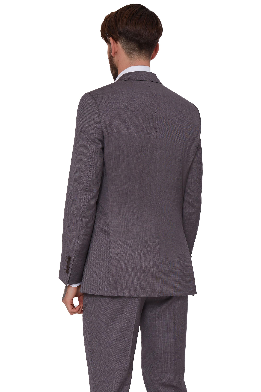 3037533a60 Lanificio F.lli Cerruti Dal 1881 Neutral Brown Tailored Fit Check Suit  Jacket