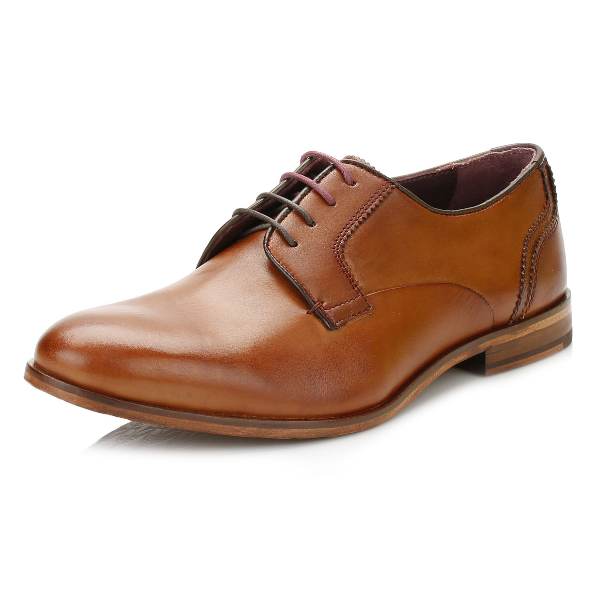 Ted Baker Mens IRONT Derby Shoes, Black or Tan Brown ...