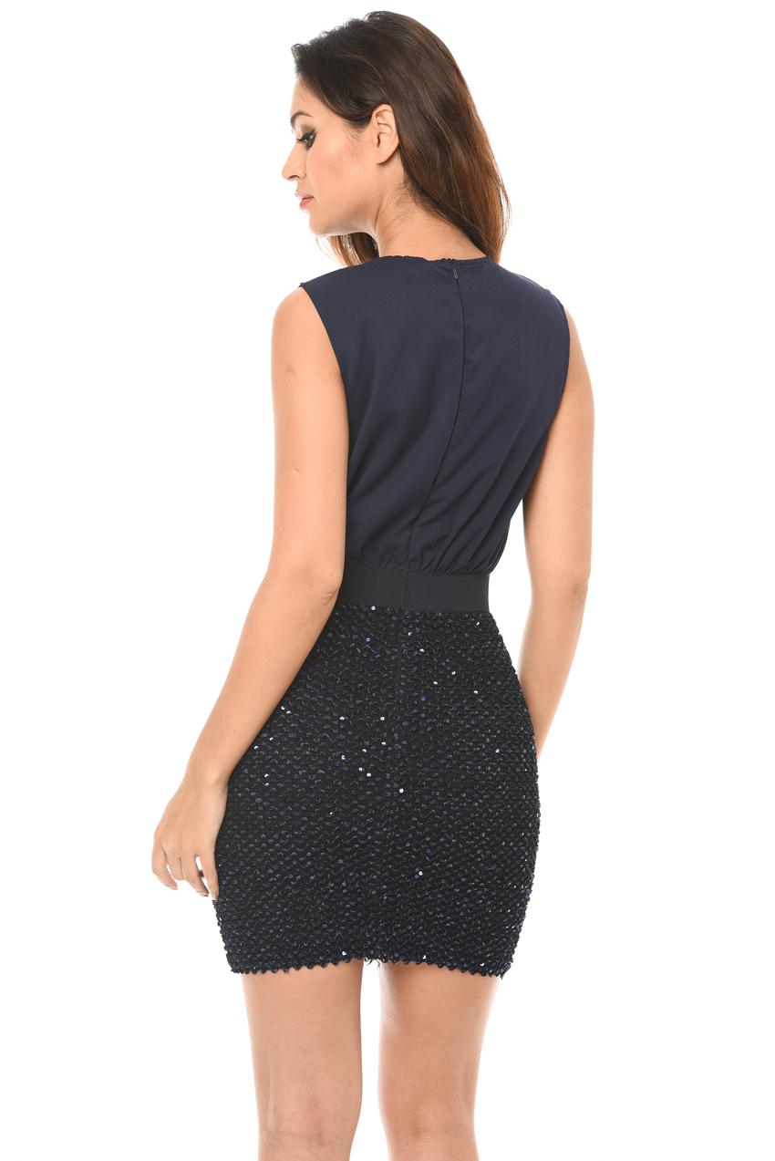 8c4ede71 AX Paris Womens 2 in 1 Sequin Skirt Mini Dress, Bodycon, Ladies ...