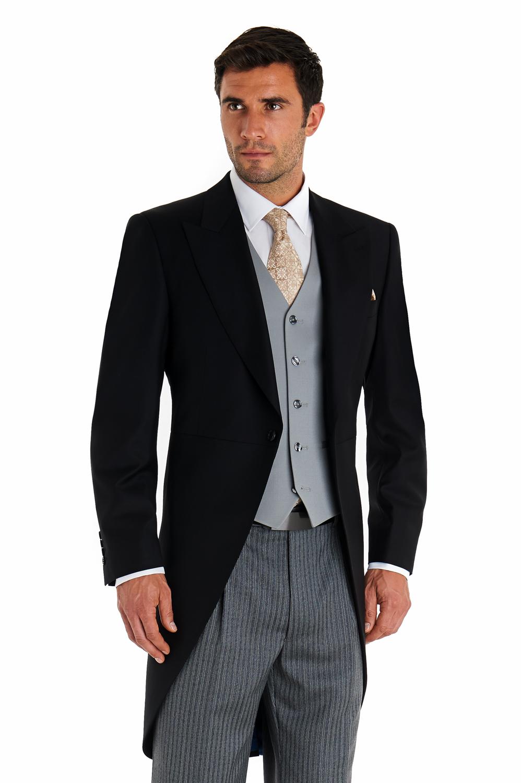 Royal Ascot Mens Morning Suit Regular Fit Black Jacket