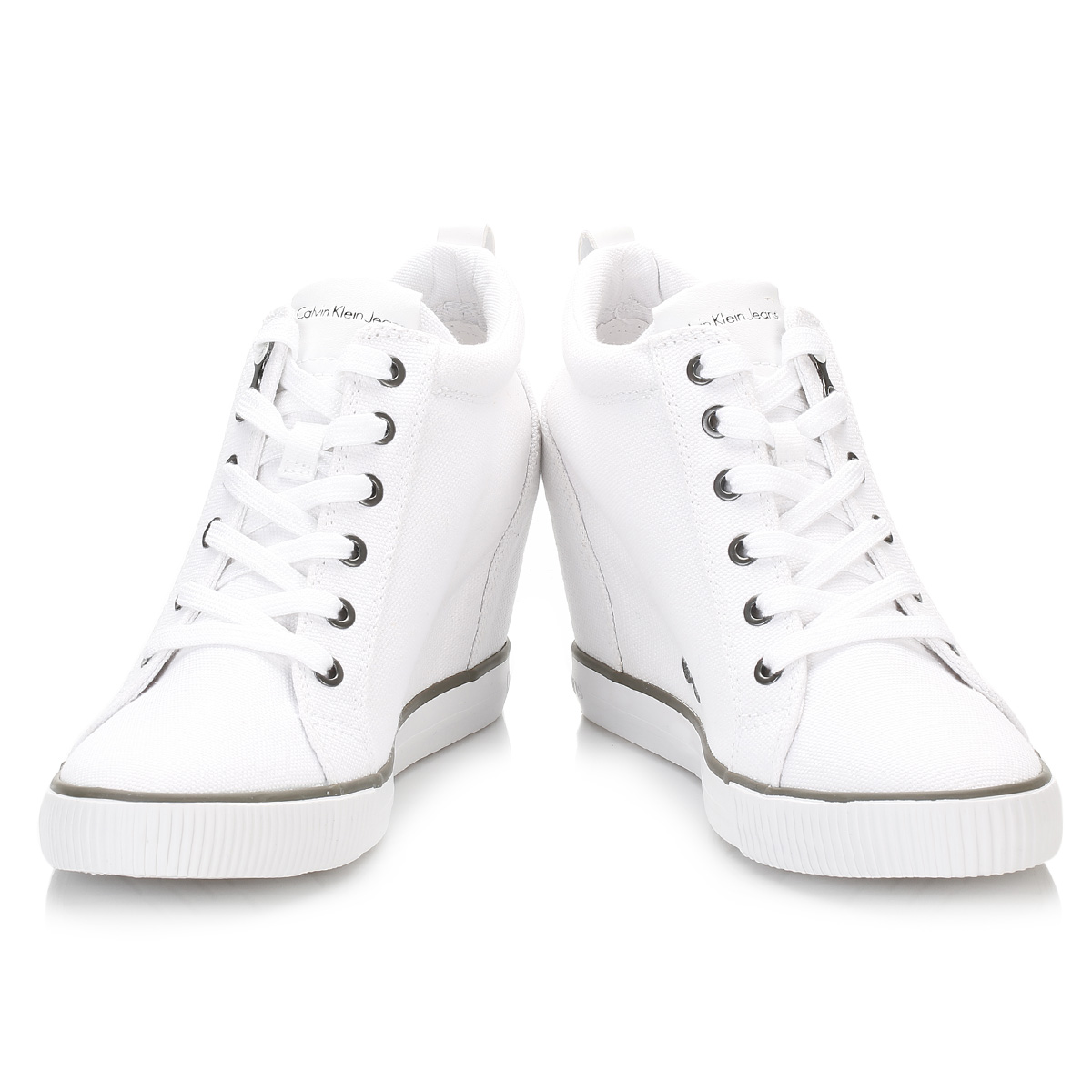 3feeb05a8d3 Calvin-Klein-Womens-Wedge-Trainers-Ritzy-White-or-