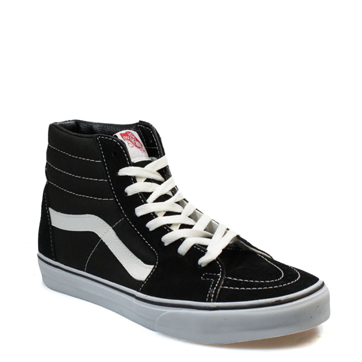 Details about Vans Unisex SK8 Black Hi Top Trainers a6450a13b