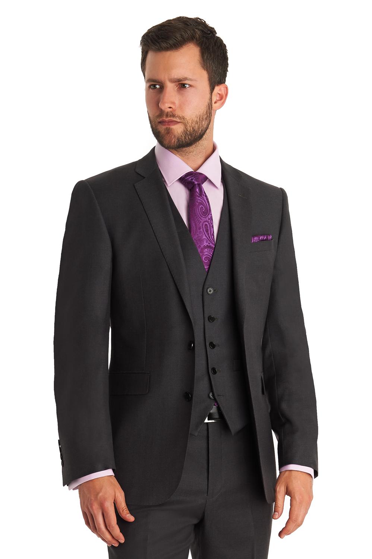 7874f38dc8 Lanificio F.lli Cerruti Dal 1881 Mens Grey Suit Jacket Tailored Fit Wool  Blazer