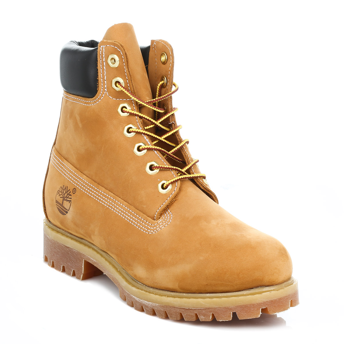 Timberland Mens Wheat Premium 6 Inch Nubuck Leather Boots Winter Shoes