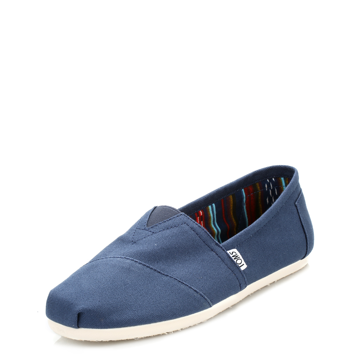 74449a00023 Details about TOMS Classic Mens Espadrilles Navy Blue Canvas Slip On Flats  Casual Shoes