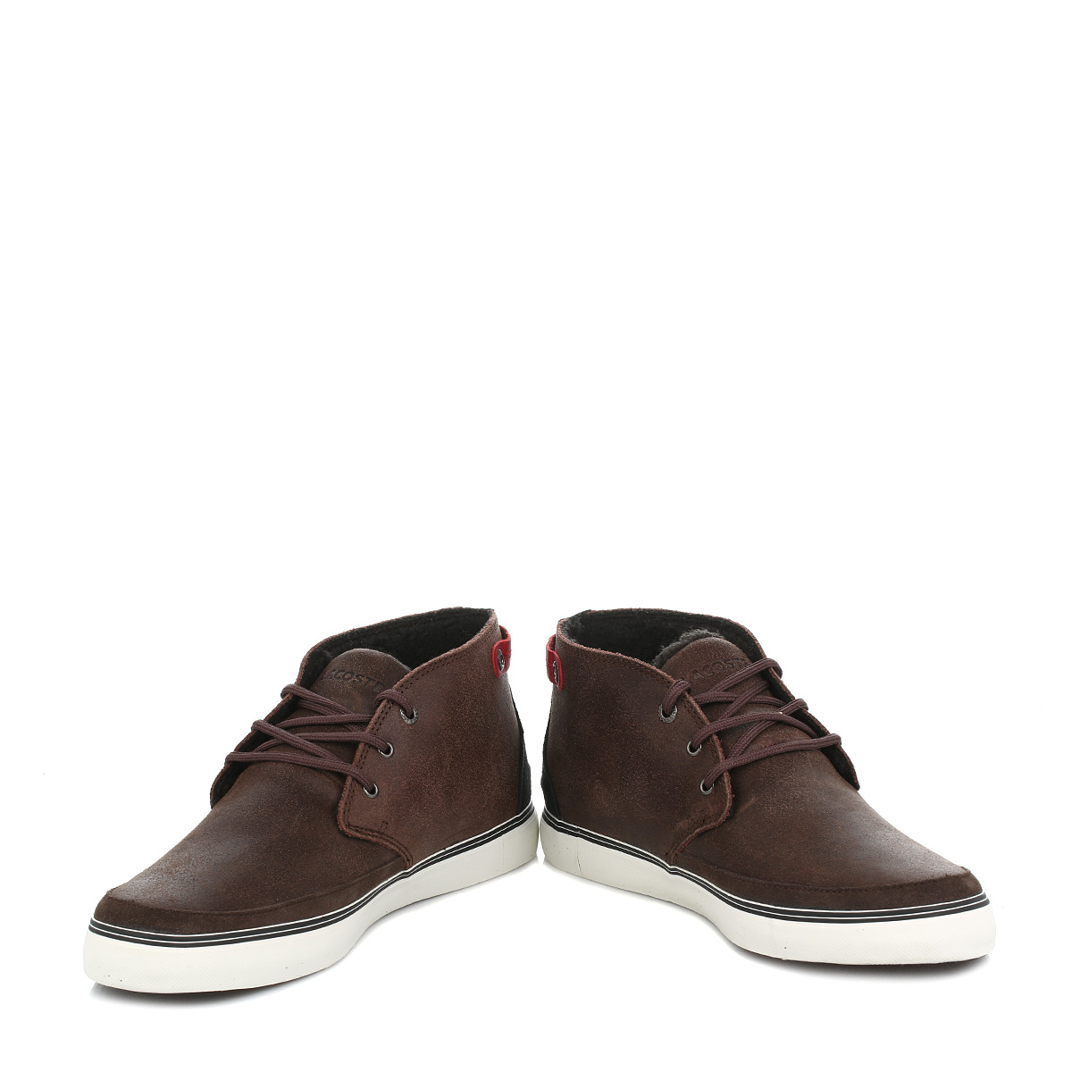 Lacoste Shoes Brown Suede