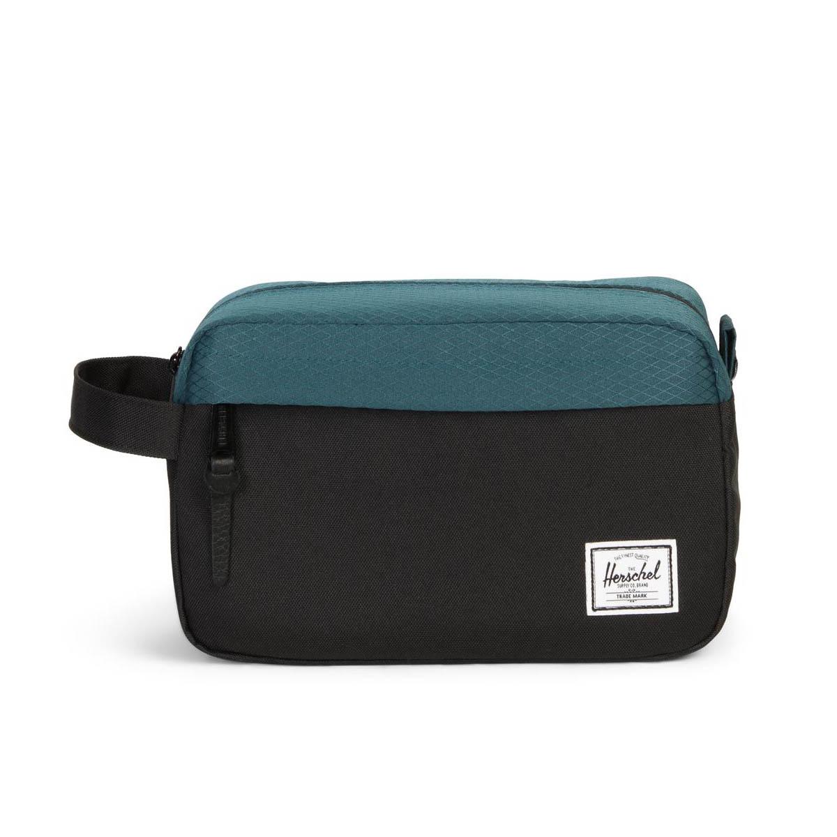 f07b89f6d1 Herschel Supply Co. Chapter Black / Teal Travel Kit Bag 828432229154 ...