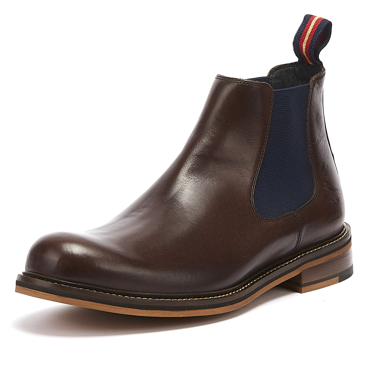 Details about Thomas Partridge Cranwell Mens Chocolate Brown Leather Chelsea Boots Ankle Shoes