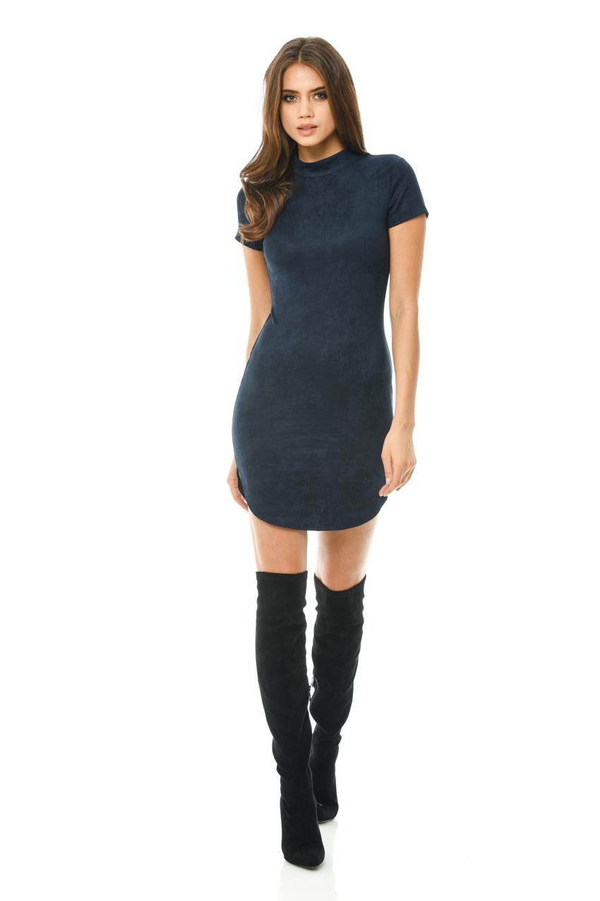 c13a75568292 AX Paris Womens Faux Suede Bodycon Mini Dress, Ladies Casual Wear | eBay