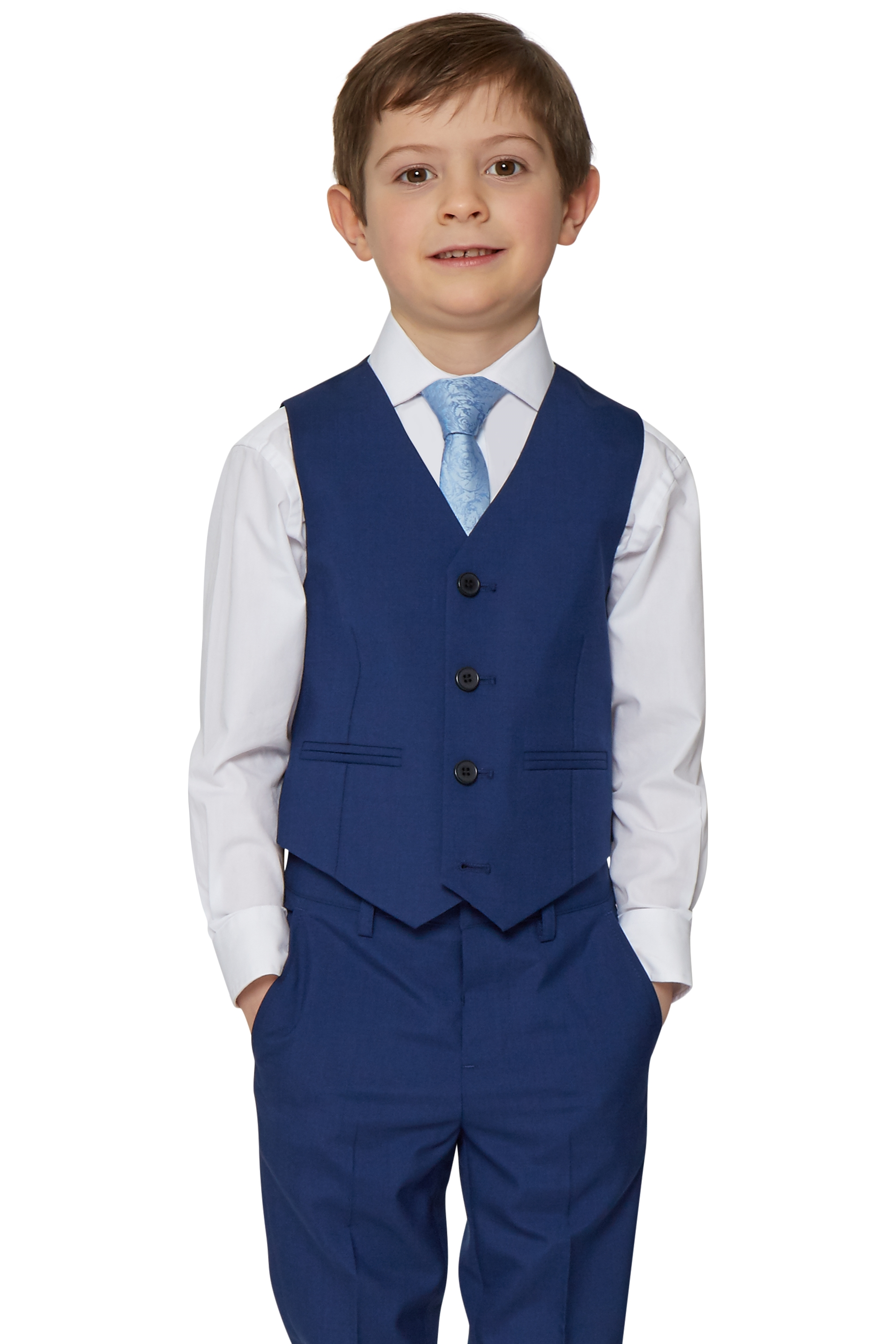 c6a2071bf51a French Connection Boys Formal Navy Blue Waistcoat 2 Pockets Kids ...