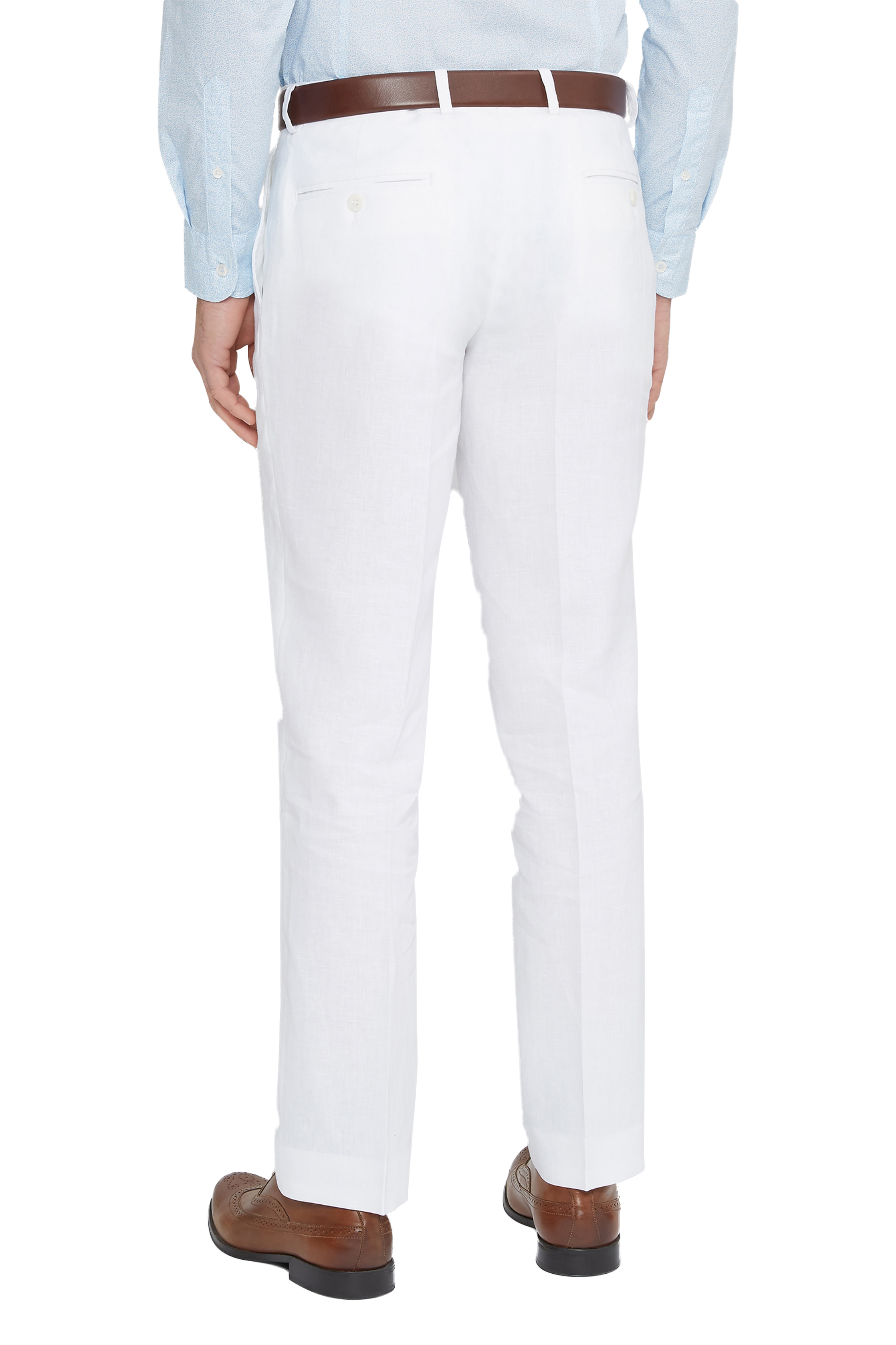 A casual trouser like these men's linen trousers, are an essential for spring/summer. With the option to roll them up as cropped trousers or wear them full length, plus front and back pockets and a zip fly, these linen trousers can be worn with shirts and T-shirts, depending on the occasion.