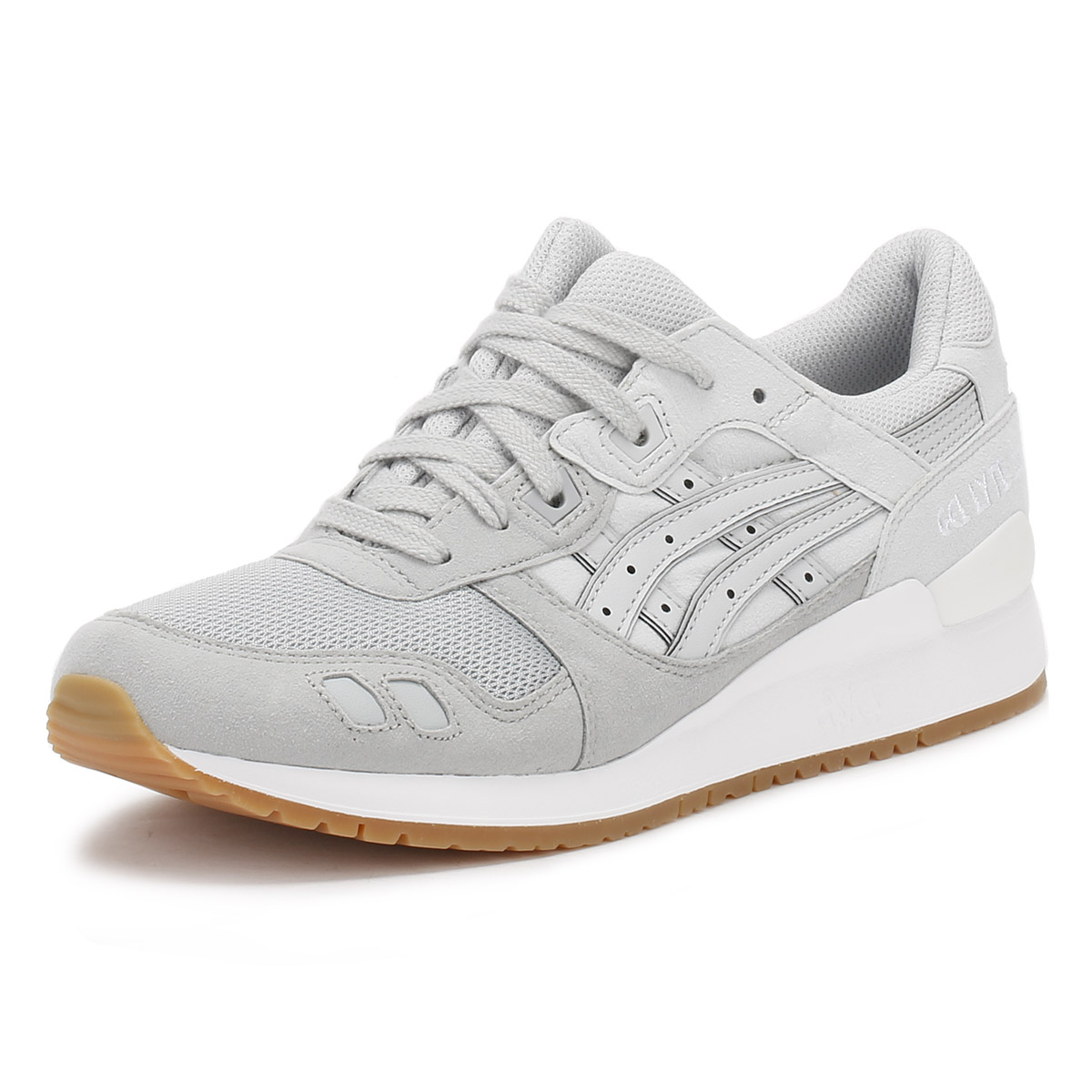 ASICS Unisex Trainers, Blue or Grey, Up Gel-Lyte III, Leather, Lace Up Grey, Sport Shoes 5bfb62