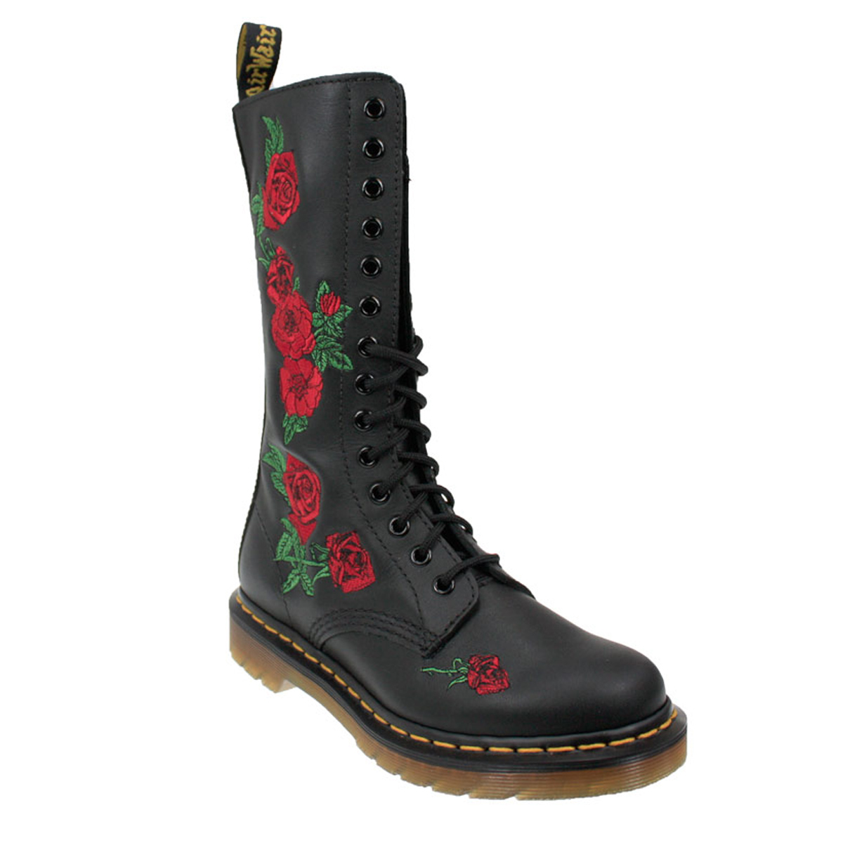 dr martens vonda womens docs black leather mid calf boots. Black Bedroom Furniture Sets. Home Design Ideas