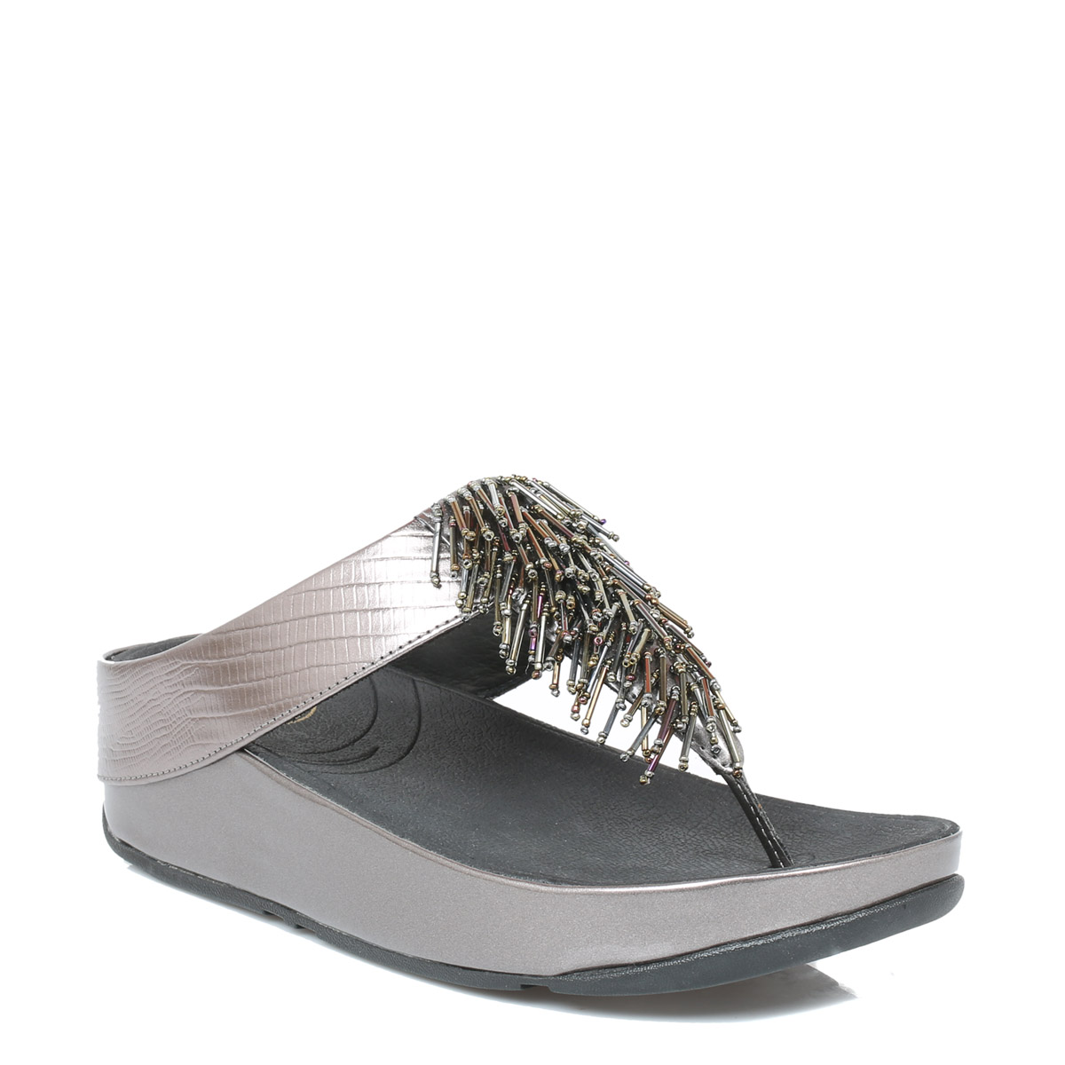 Fitflop Womens Cha Cha Sandals Black Or Silver Slip On