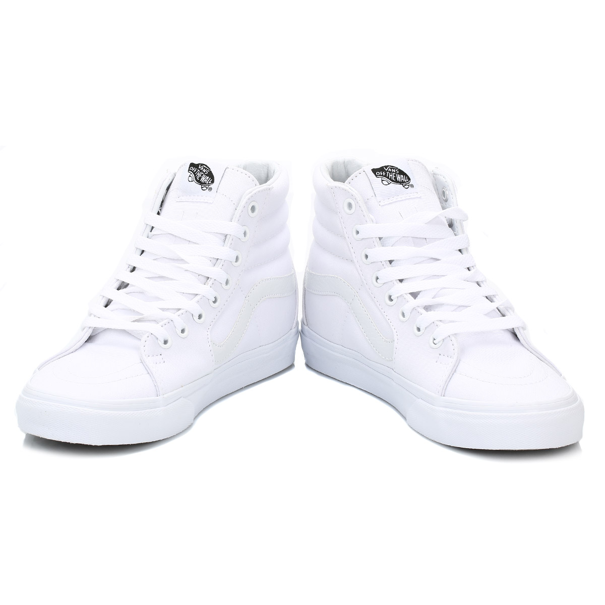 Vans Men High Tops White SK8 Hi Suede Trainers LaceUp ...