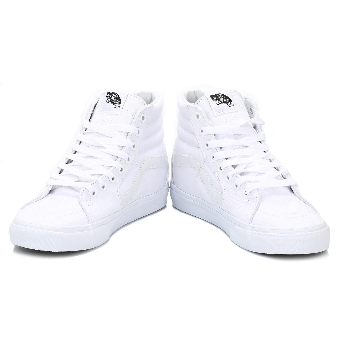 vans men high tops white sk8 hi suede trainers laceup