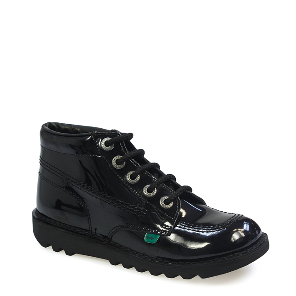 Kickers-Youth-Kick-Hi-Black-Patent-Leather-Shoes-Kids-Winter-Ankle-Boots