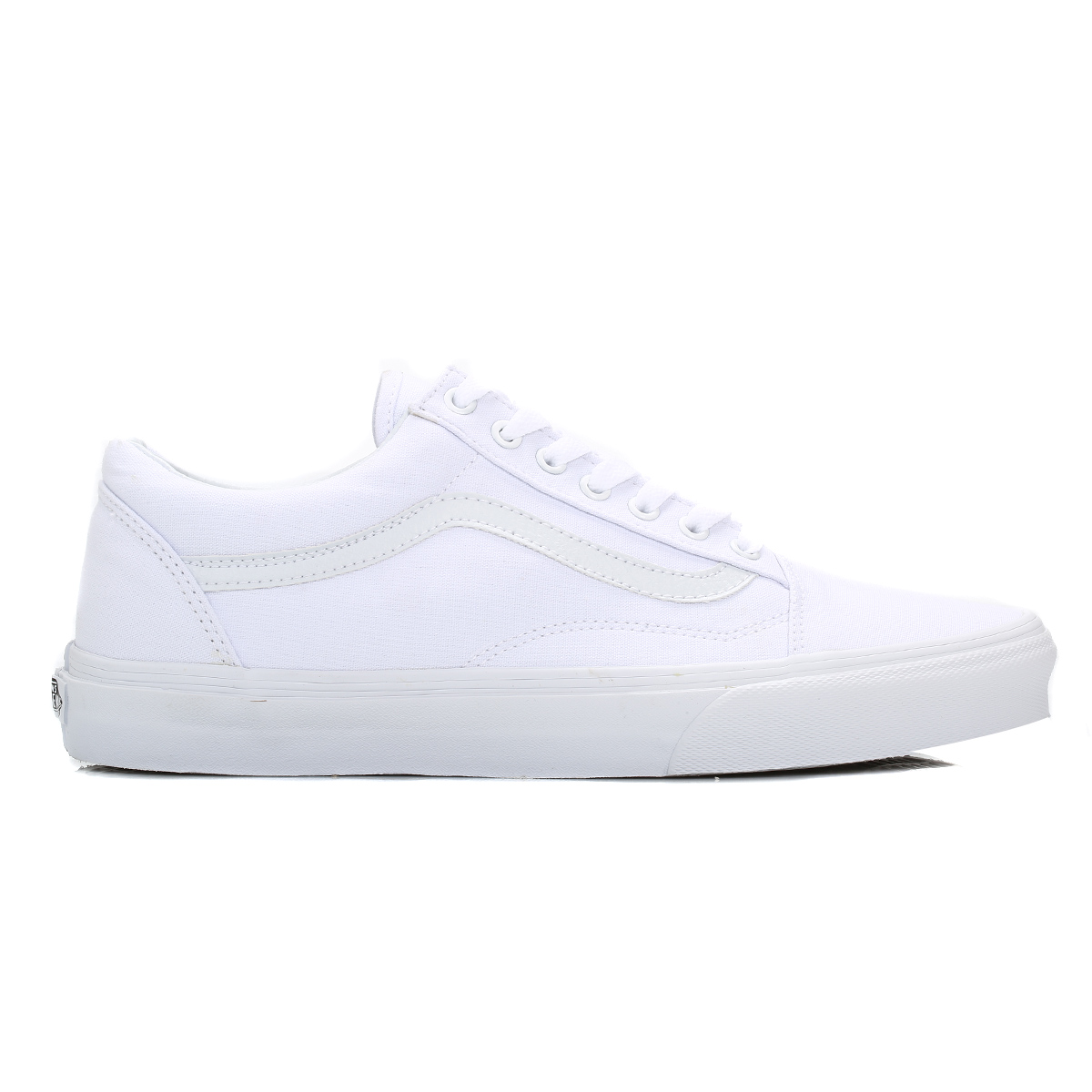 Vans Mens Trainers True White Old Skool Canvas Lace Up Sport Casual