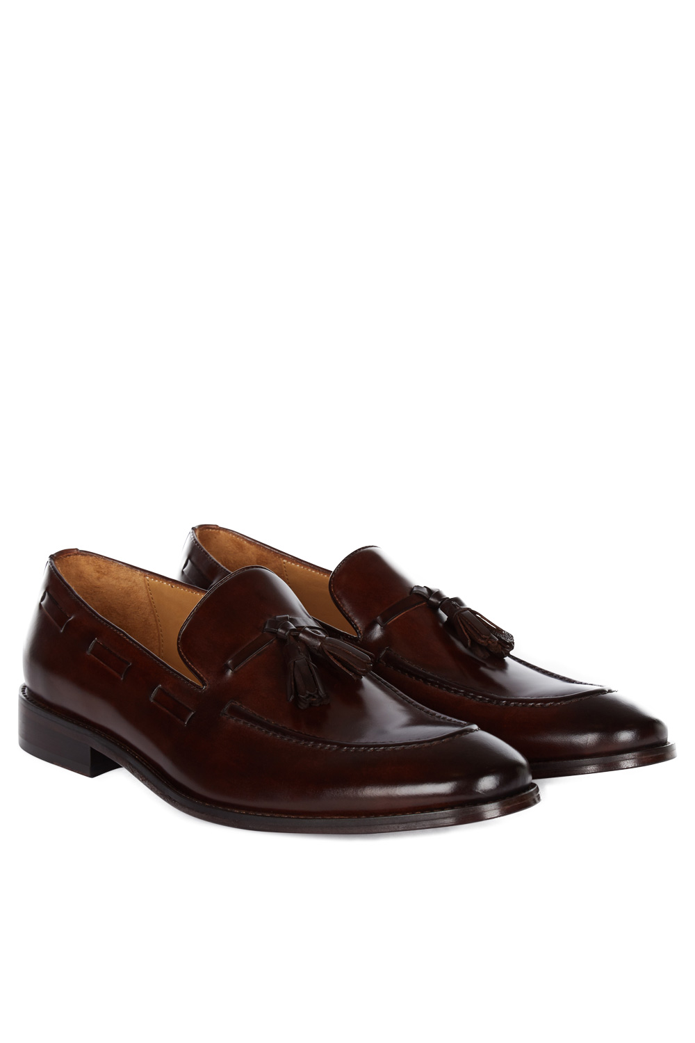 Hardy Amies Mens Formal Shoes Brown Tassel Leather Loafers Slip On Smart Casual | EBay