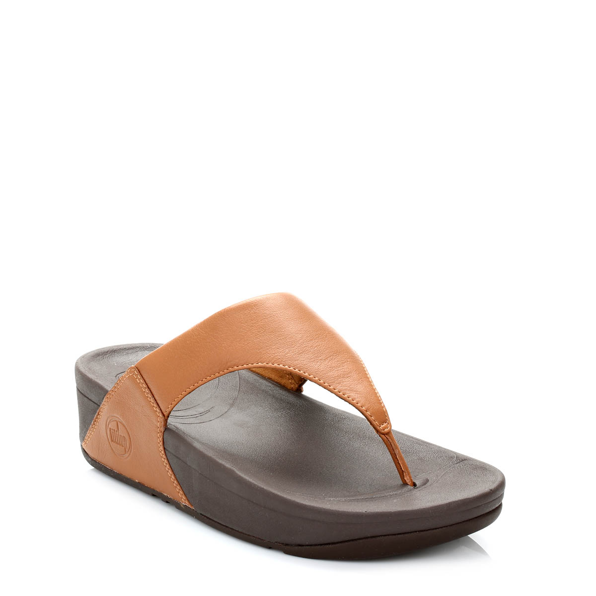 2112fcd3fb05f0 Details about FitFlop Womens Sandals Toffee Tan Brown Lulu Leather Thong  Slip On Toe Post