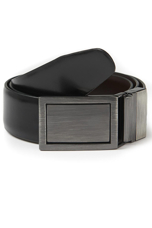 40d52bd0f341 Details about Moss 1851 Mens Black Brown 4 in 1 Bonded Leather Reversible  Dress Suit Belt