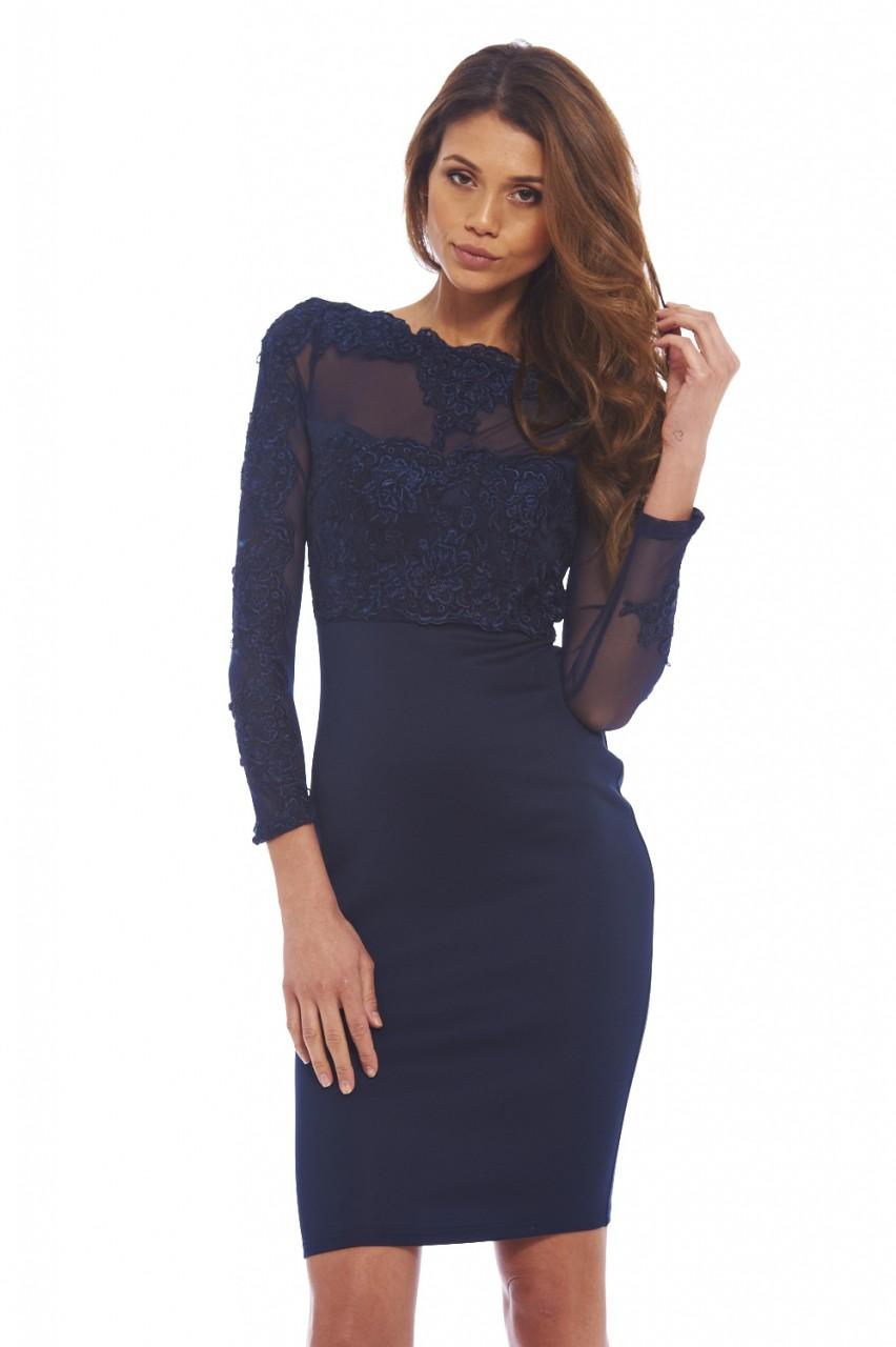 Evening bodycon midi dress
