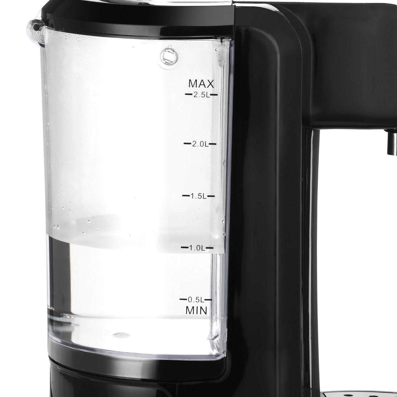 sentinel vonshef instant hot water dispenser kettle 25 litre capacity black max 2600w