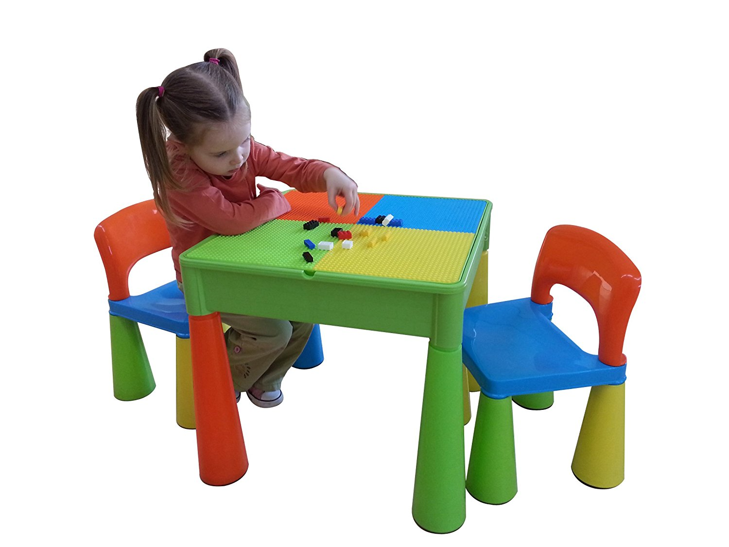 Childrens Activity Table Plum Kids Wooden Train Set And