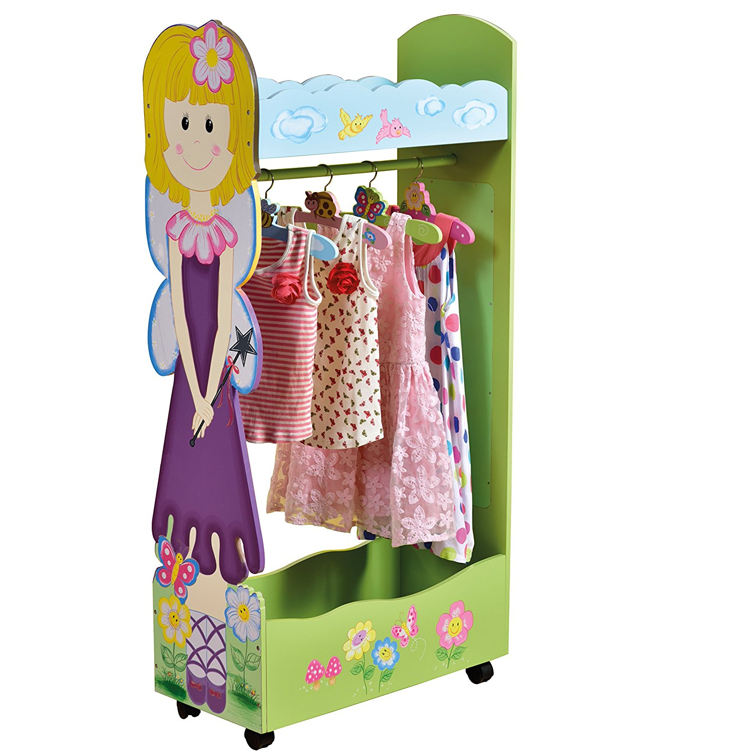 Attractive Sentinel Childrens Dress Up Storage Centre Clothes Rail Fairy Bedroom  Furniture