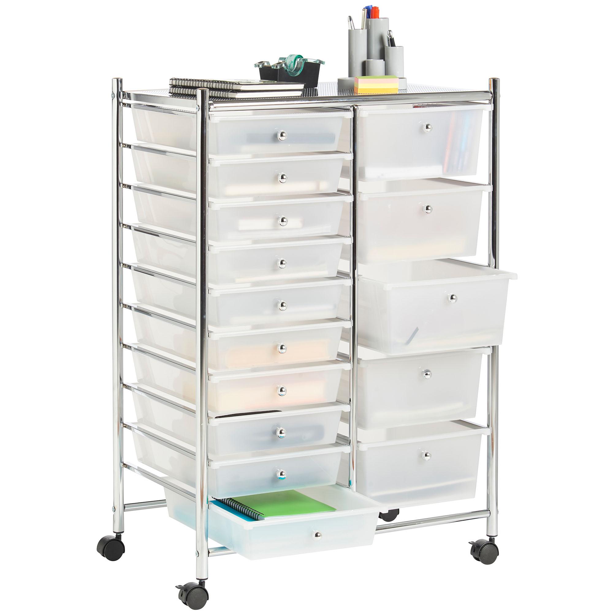 100 kitchen storage trolley vonhaus white 15 drawer home of