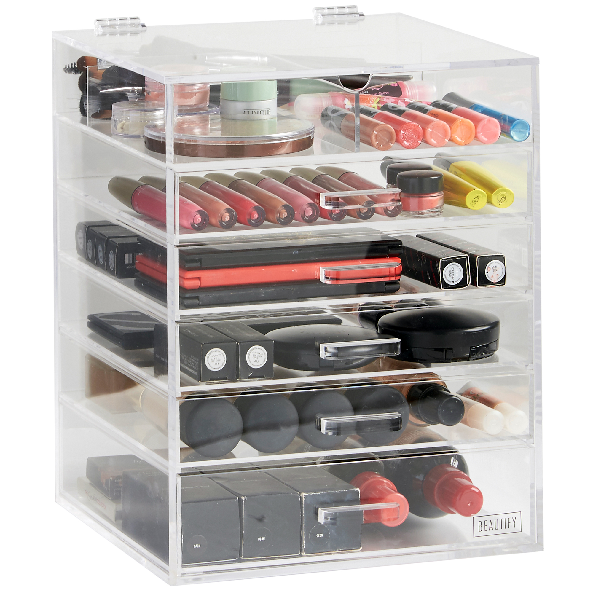 Beautify 6 Tier Clear Acrylic Cosmetic Makeup Organiser