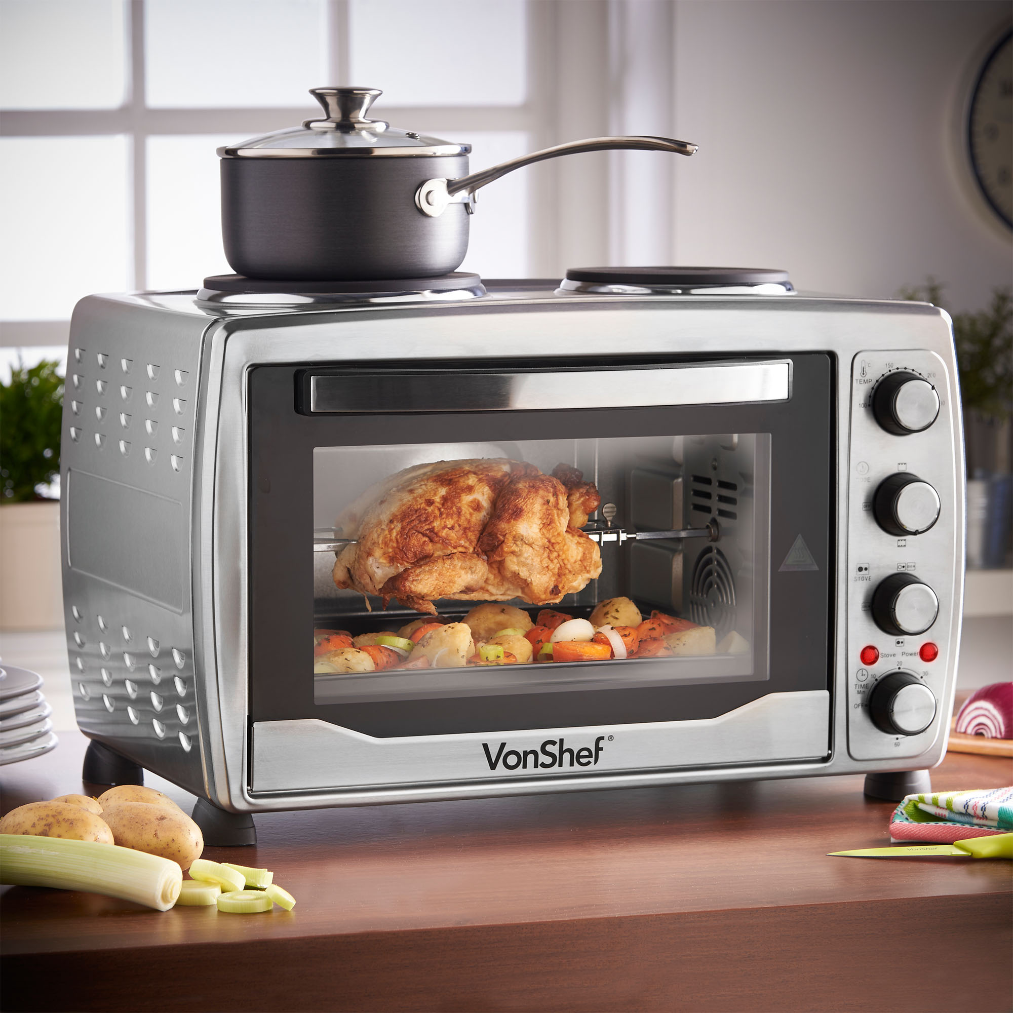 includes wide countertop stainless broil rack black slice convection pan large toasting steel toaster bake decker oven extra product countertops