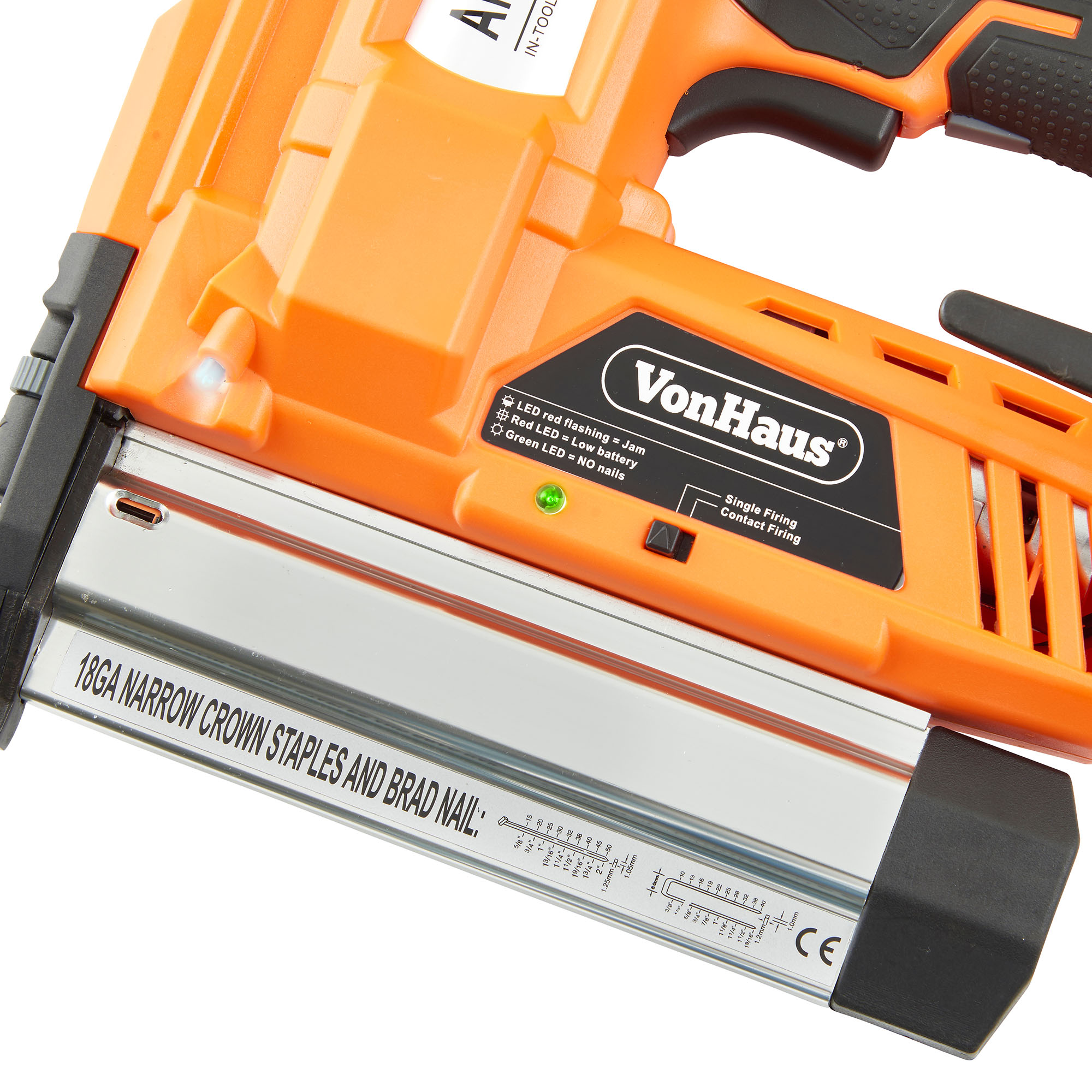 Vonhaus Cordless Electric Heavy Duty 2 In 1 Nail Amp Staple