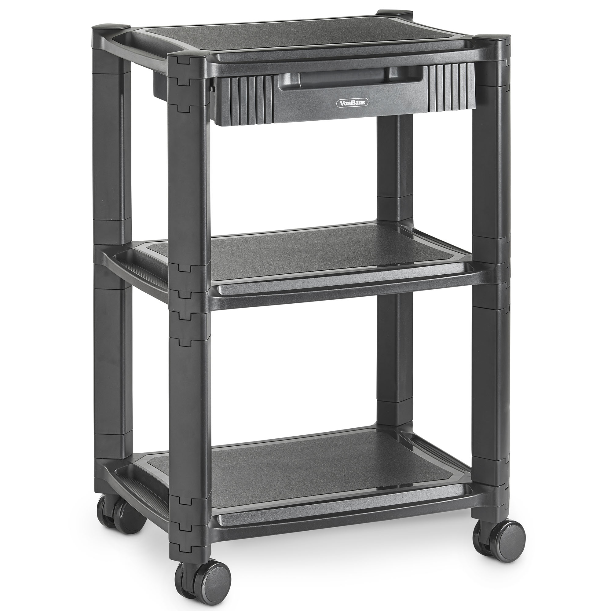 VonHaus Storage Stand with Three Shelves Self contained Unit with