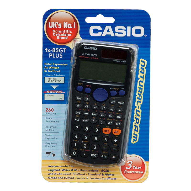 Casio FX 85GT Plus Black Scientific Calculator 260