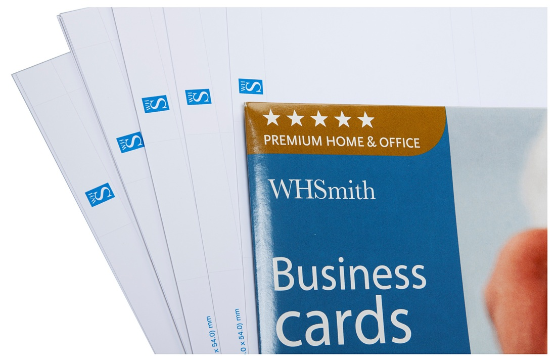 WHSmith Fine Micro-perforated Heavyweight Inkjet Business Cards ...