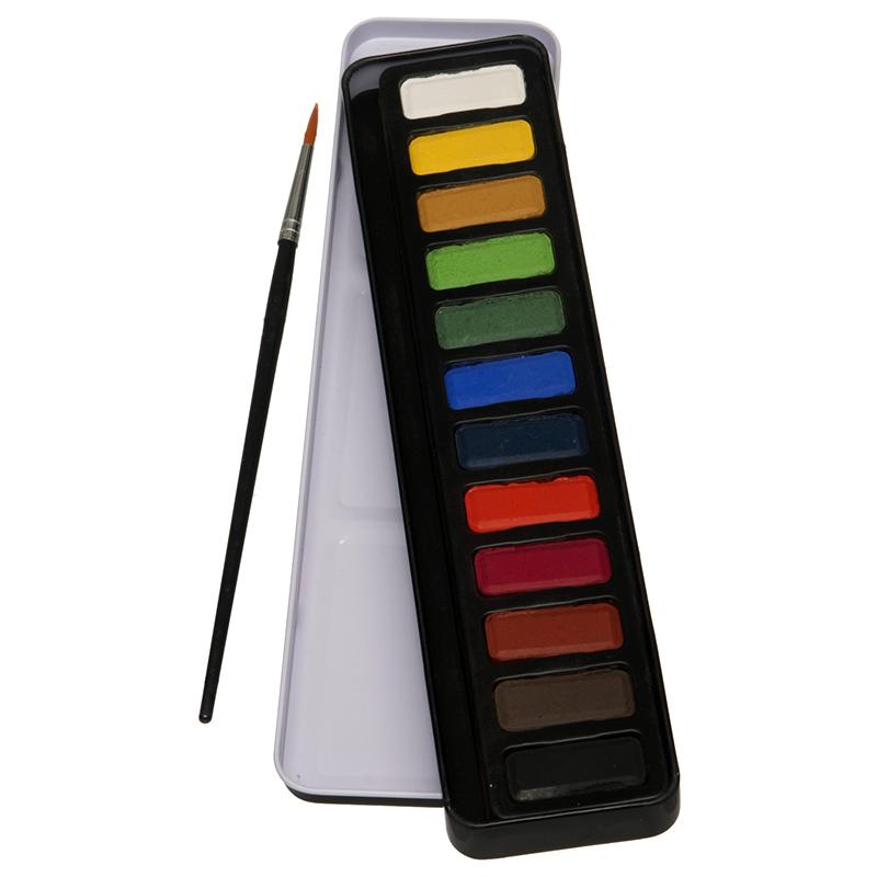 Whsmith Watercolour Paint Box Contains 12 Watercolour Pans In A Handy Black Tin Watercolor Paint Paint
