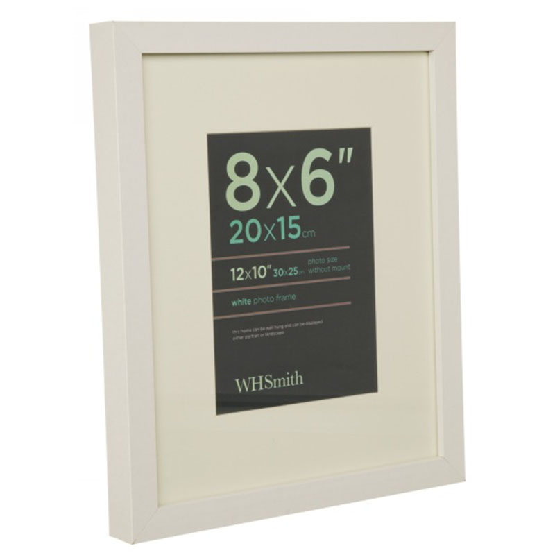 WHSmith White Wooden Box Picture Frame Clip Photo Frame Size 20 x ...