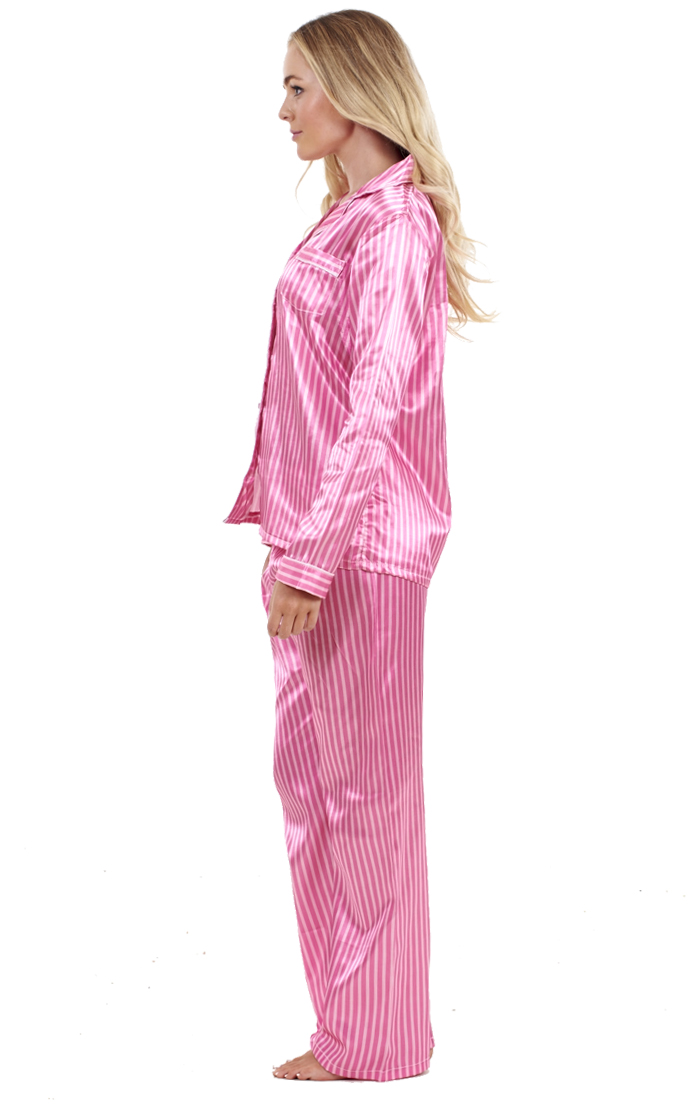 1b17055ab950 Sentinel Ladies Stunning Printed Satin Pyjamas Long Sleeve Nightwear Silk  PJ S