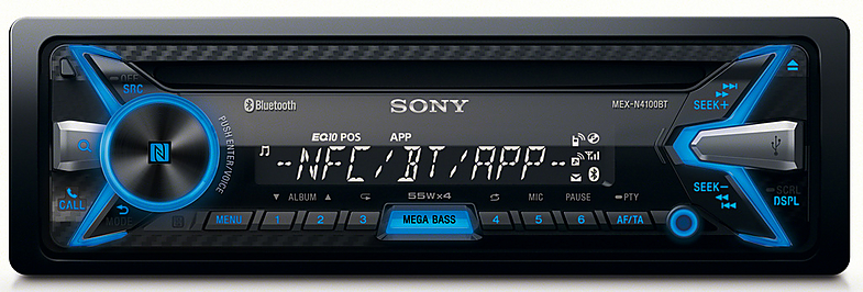 Sony MEX-N4100BT Car Stereo Radio Player CD MP3 Bluetooth USB IPod IPhone Aux FM