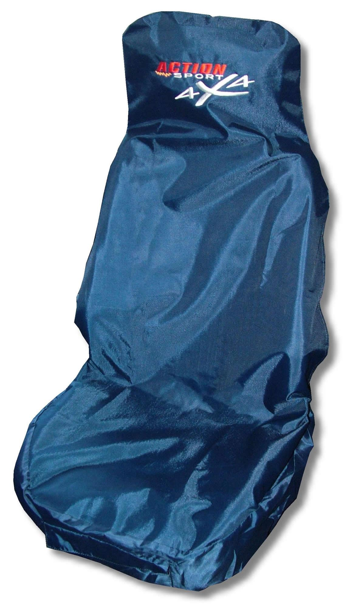 Action Sport 4x4 Car Front Seat Protector Cover Waterproof in Blue ...